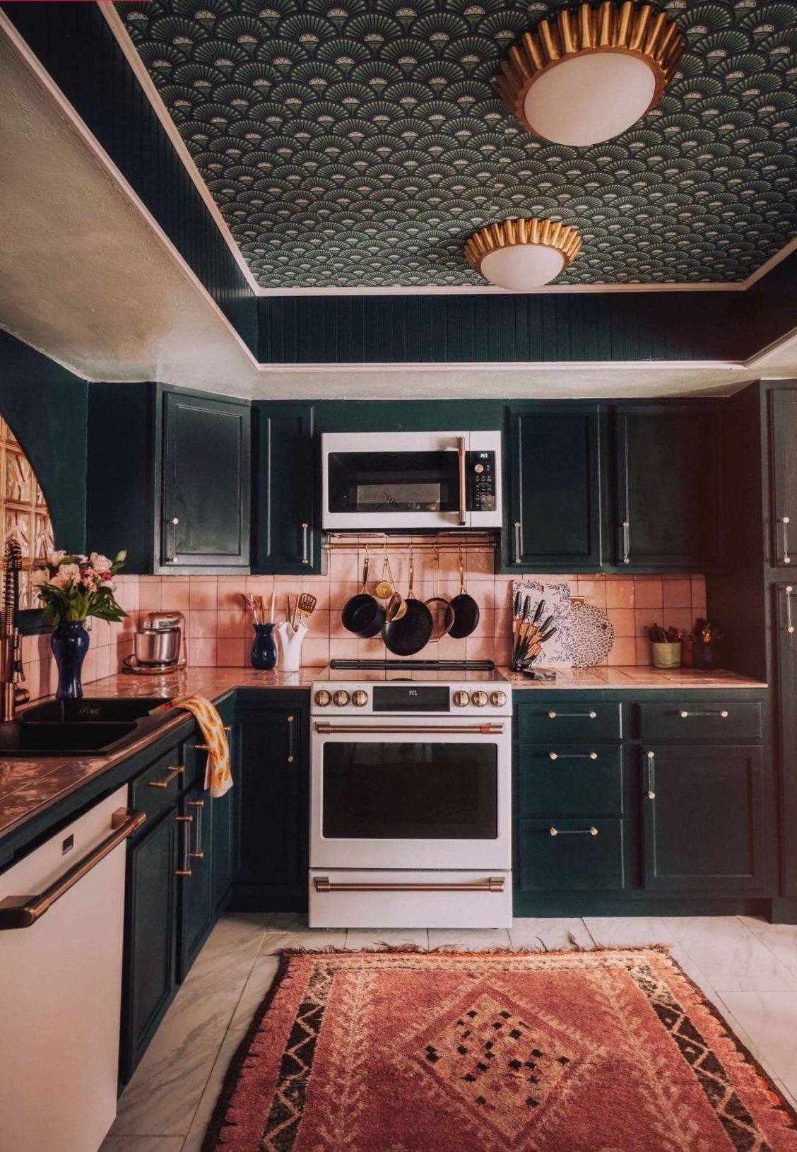 Before And After The Best Part Of This Full Kitchen Reno Is The Ceiling In 2020 With Images Kitchen Renovation Bold Kitchen Interior Design Kitchen