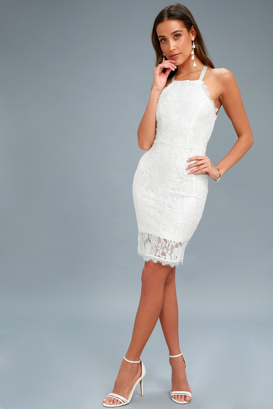 e0ec9e9ff9 Wishful Wanderings White Lace Bodycon Midi Dress 5