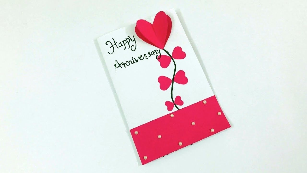 anniversary card tutorial diy anniversary card handmade