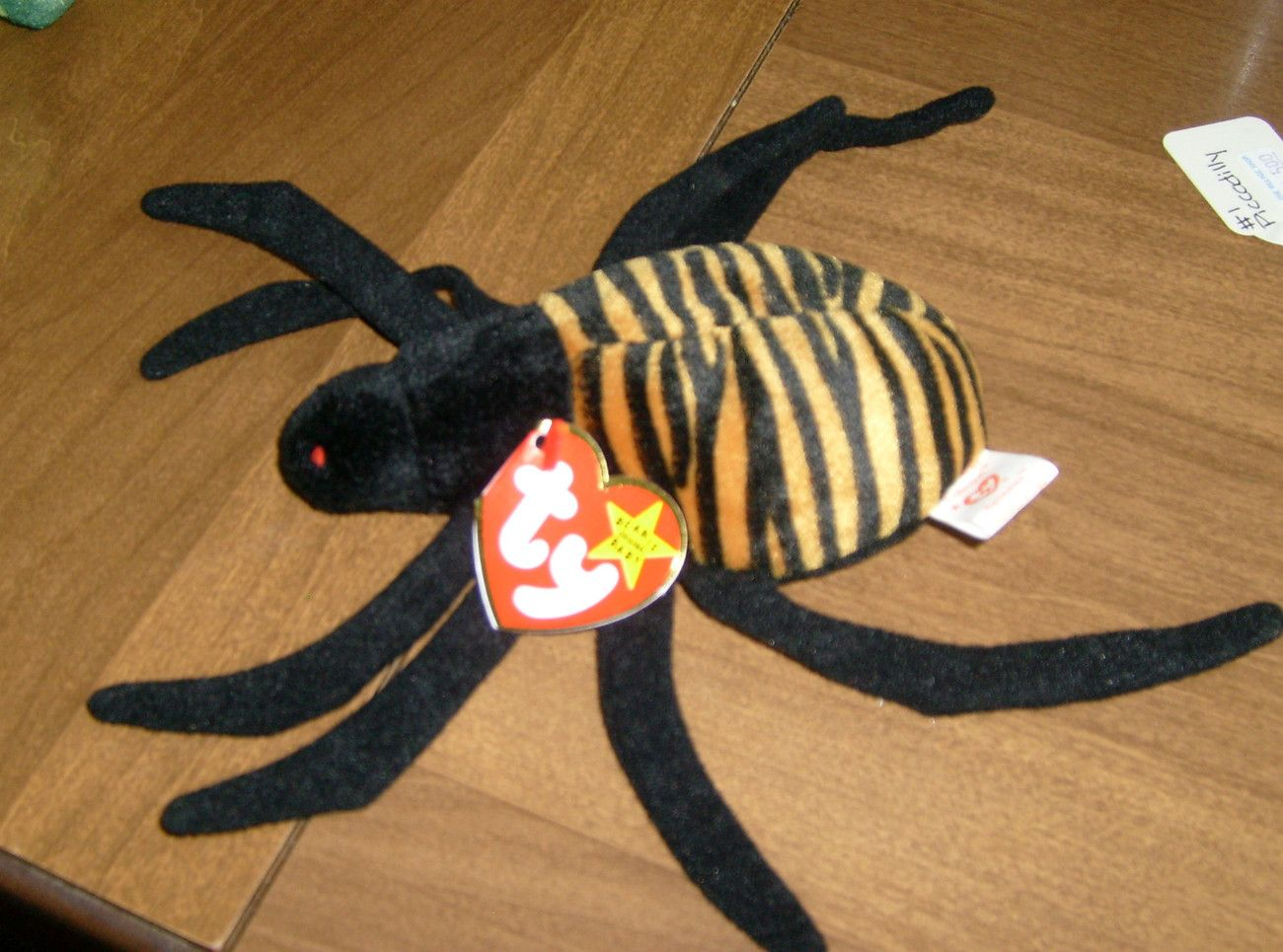 8670983d723 TY Original Beanie Baby Spinner the Spider Date of Birth 10-28-96 New with  tag