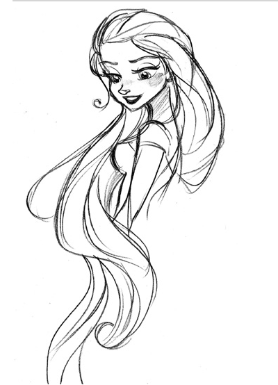 Tangled Draft Sketch Draft
