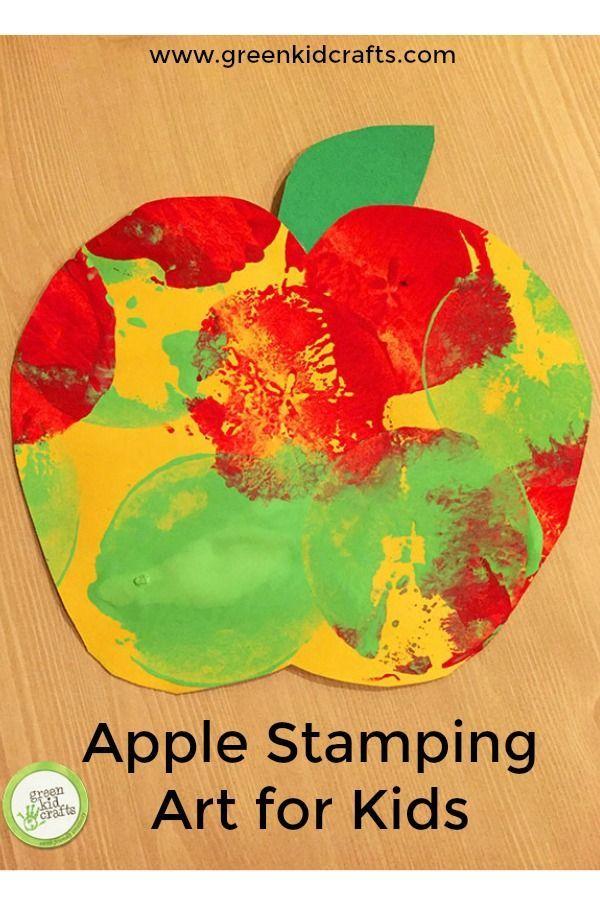 Apple Stamping Art For Kids Craft Ideas Herbst Basteleien