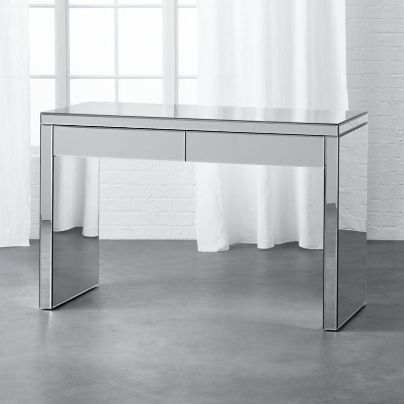 mirrored office furniture. 100 mirrored desk downsizes for space but ups the style quotient office furniture l