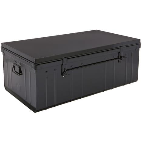 Malle Cantine De Rangement 100 Cm Finition Brillant Ou Satine Traveling Pas Cher A Prix Auchan In 2020 Outdoor Storage Box Outdoor Storage Storage Bench