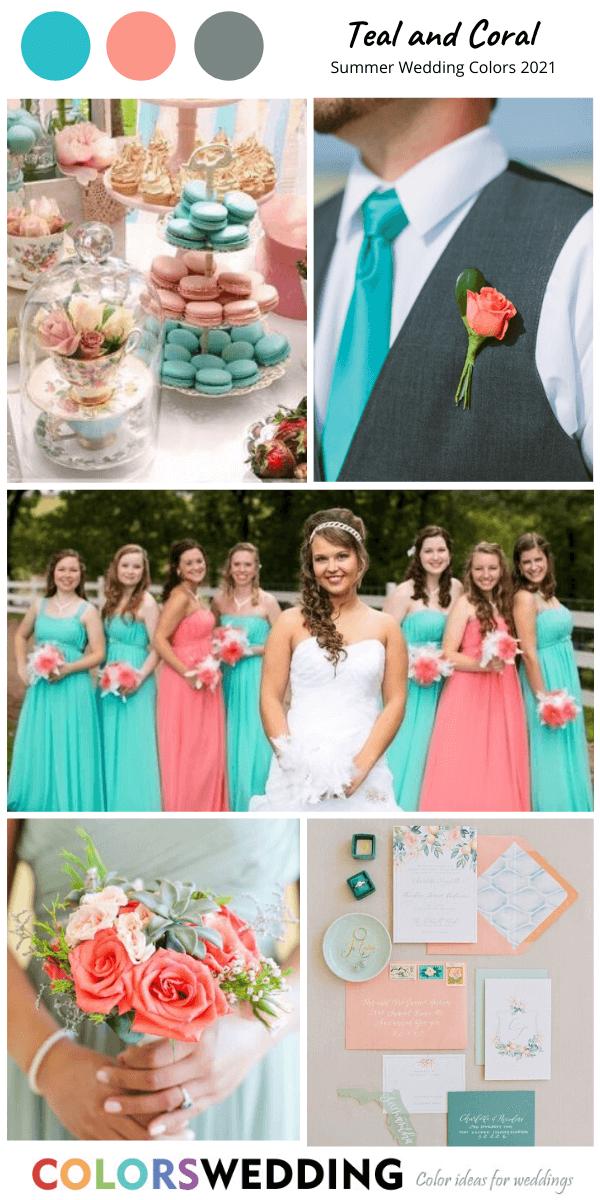 Best 8 Summer Wedding Color Combos For 2021 Summer Wedding Colors Wedding Color Schemes Spring Wedding Color Schemes Summer