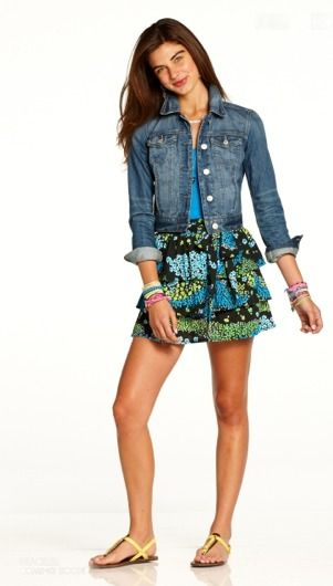 c710a68c96a1 Cute dress with jean jacket
