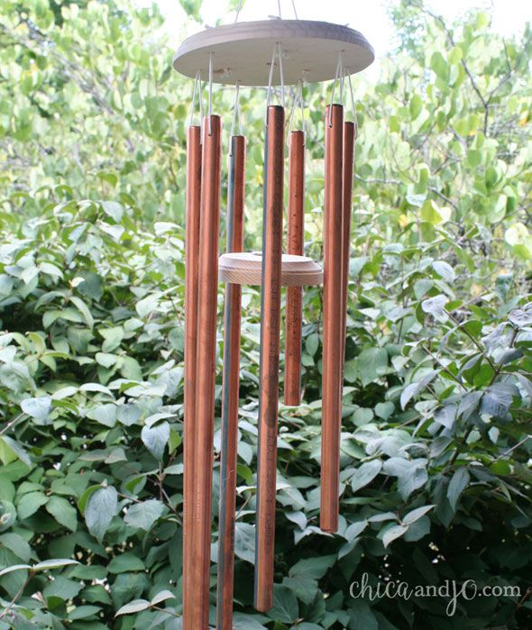 Diy Copper Wind Chimes Tutorial Wooden Wind Chimes Wind Chimes