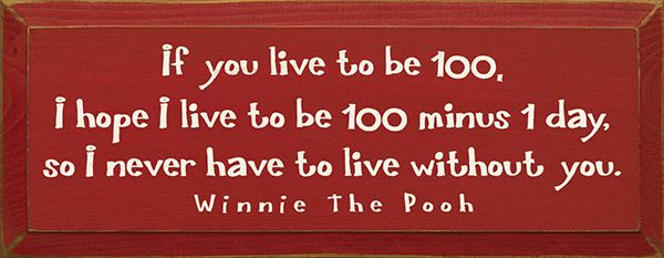 If I Live To Be 100 Winnie The Pooh If You Live To Be 100 I Hope