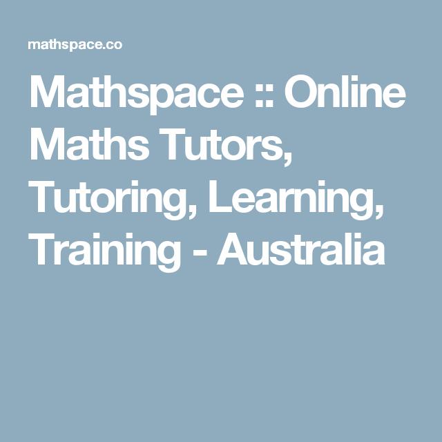 Mathspace Online Maths Tutors Tutoring Learning Training