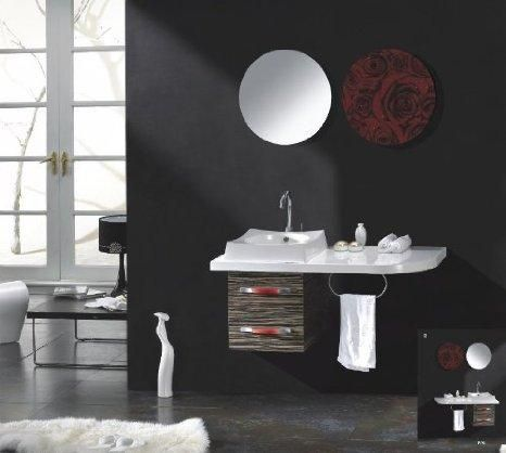 Bathroom Vanities, Modern Black And Dark Bathroom Wall With Small White  Bahroom Vanity Albany Ny