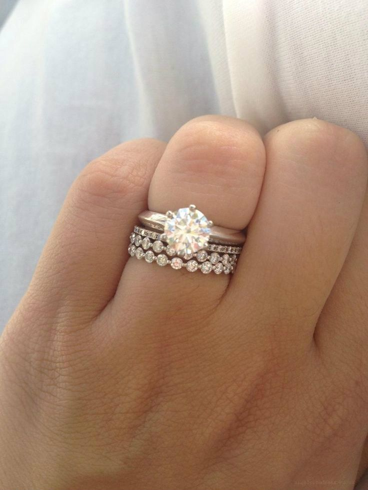 Love The Different Styles And Stacking The Wedding Ring With The Bands To Create Texture Great