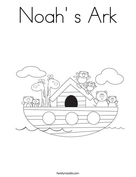 Noah S Ark Coloring Page Twisty Noodle This Site Lets You Make Color Pages And Handwriting Pages Noahs Ark Preschool Coloring Pages Noahs Ark