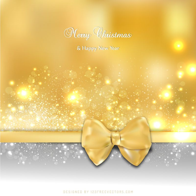 Gold Christmas Greeting Card Bow Background Design Christmas Card Background Christmas Card Design Beautiful Christmas Cards