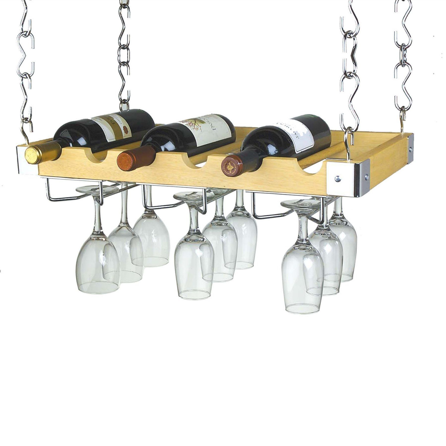 Ceiling Or Wall Mount Wooden Wine Rack Projects To Try Hanging