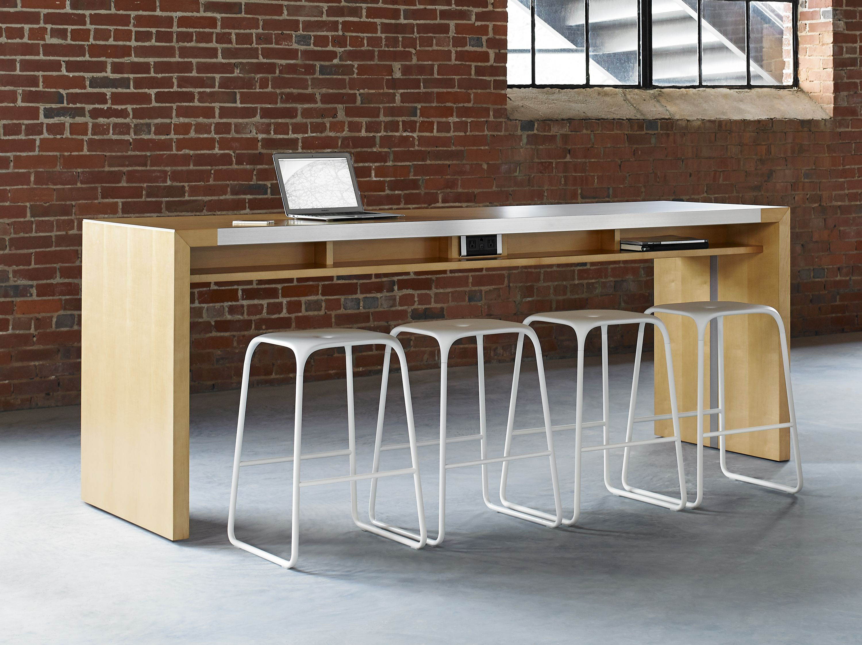 For Commuting Workers Or Contractors, Assign A Dedicated Space In Your New  Office Layout. Bar Height TableContemporary ...