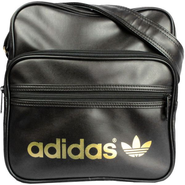 2463f89242e6 Adidas AC Sir Bag Messenger W68183 (black gold) ( 39) ❤ liked on Polyvore  featuring bags