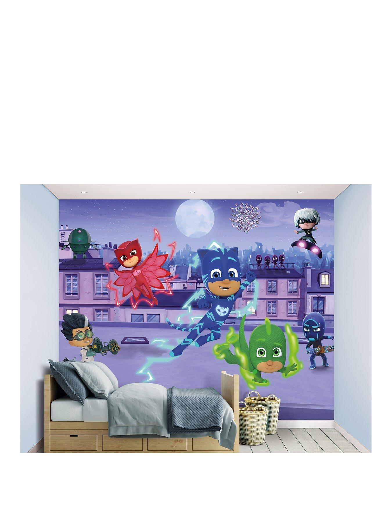 PJ Masks Wall Mural Boys room mural, Toddler boys room