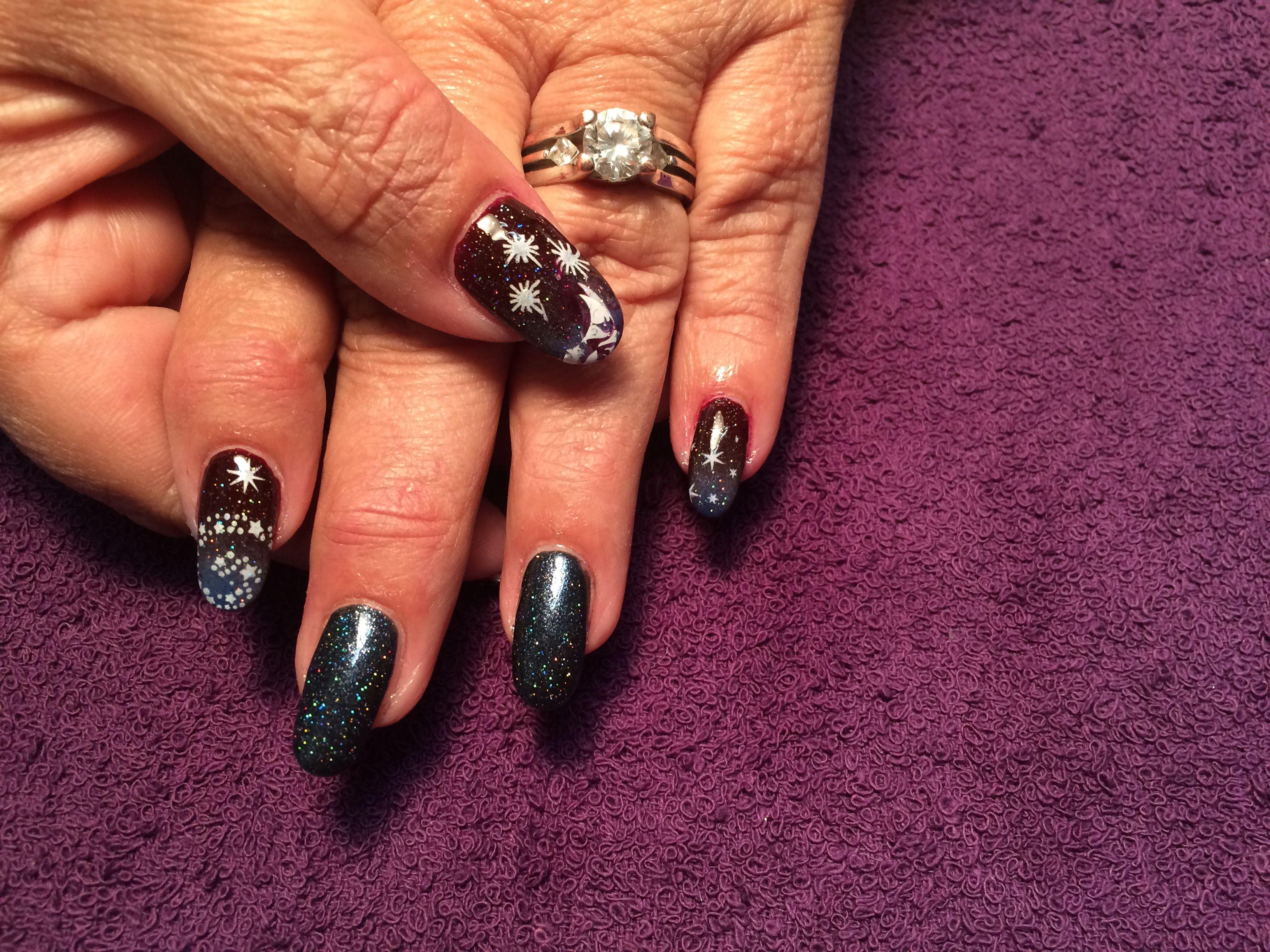 Galaxy Nails   Nail art   Pinterest   Galaxy nail