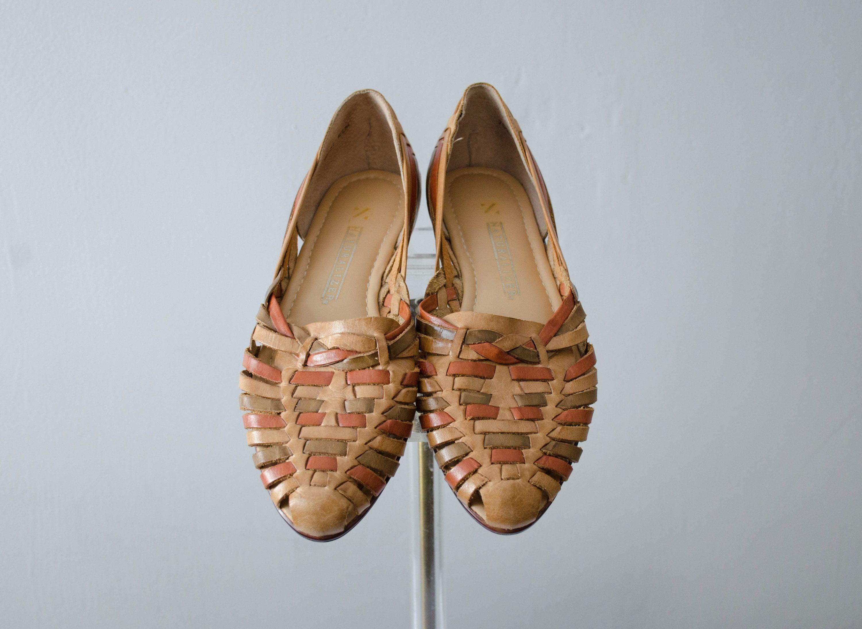 Tan Leder Huaraches Brasilianische Lederschuhe Gewebte Etsy Lederschuhe Schuhe Leder