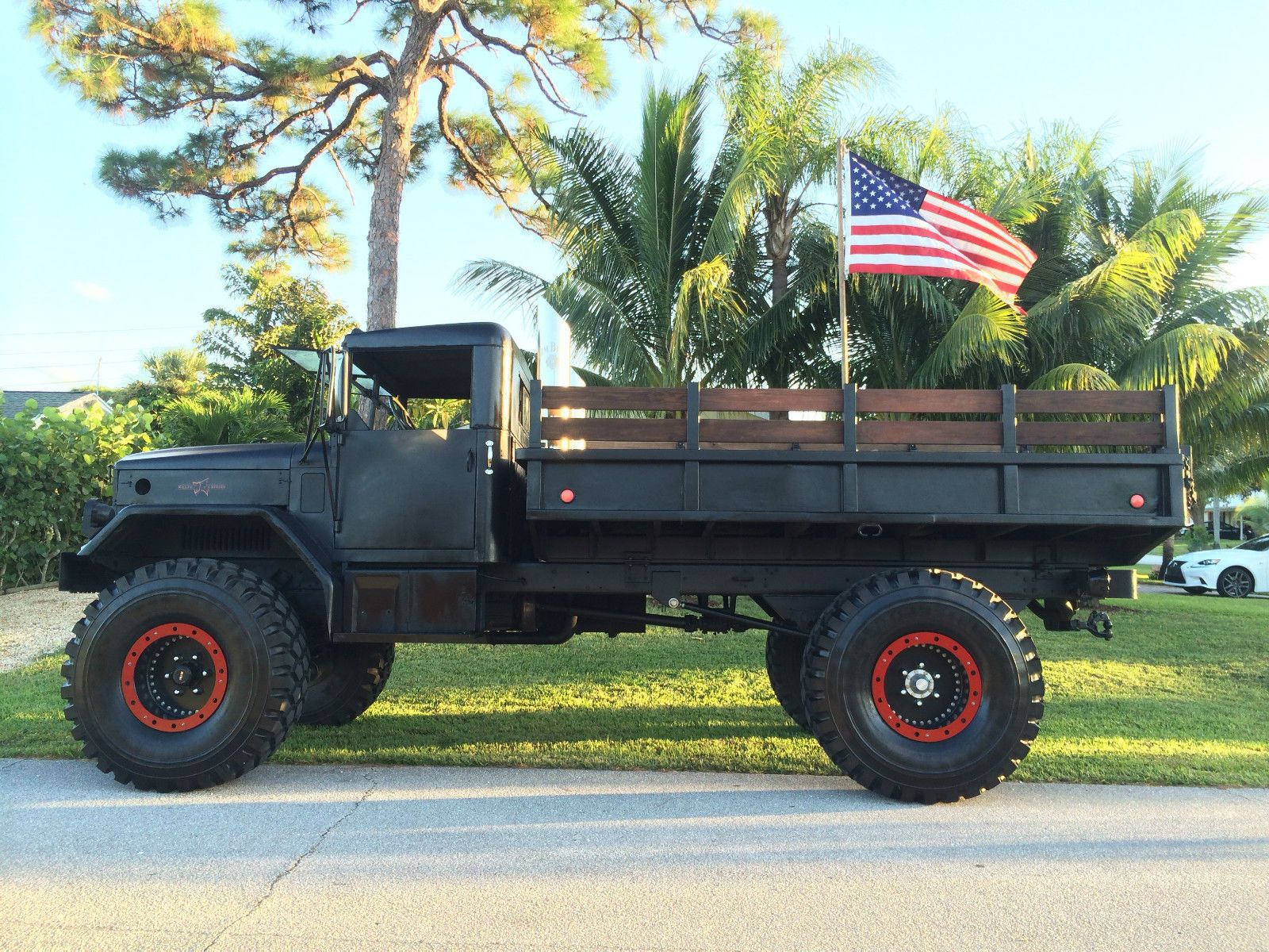 Custom built m35a2 deuce 1 2 military vehicle custom 5 lift 53 tires