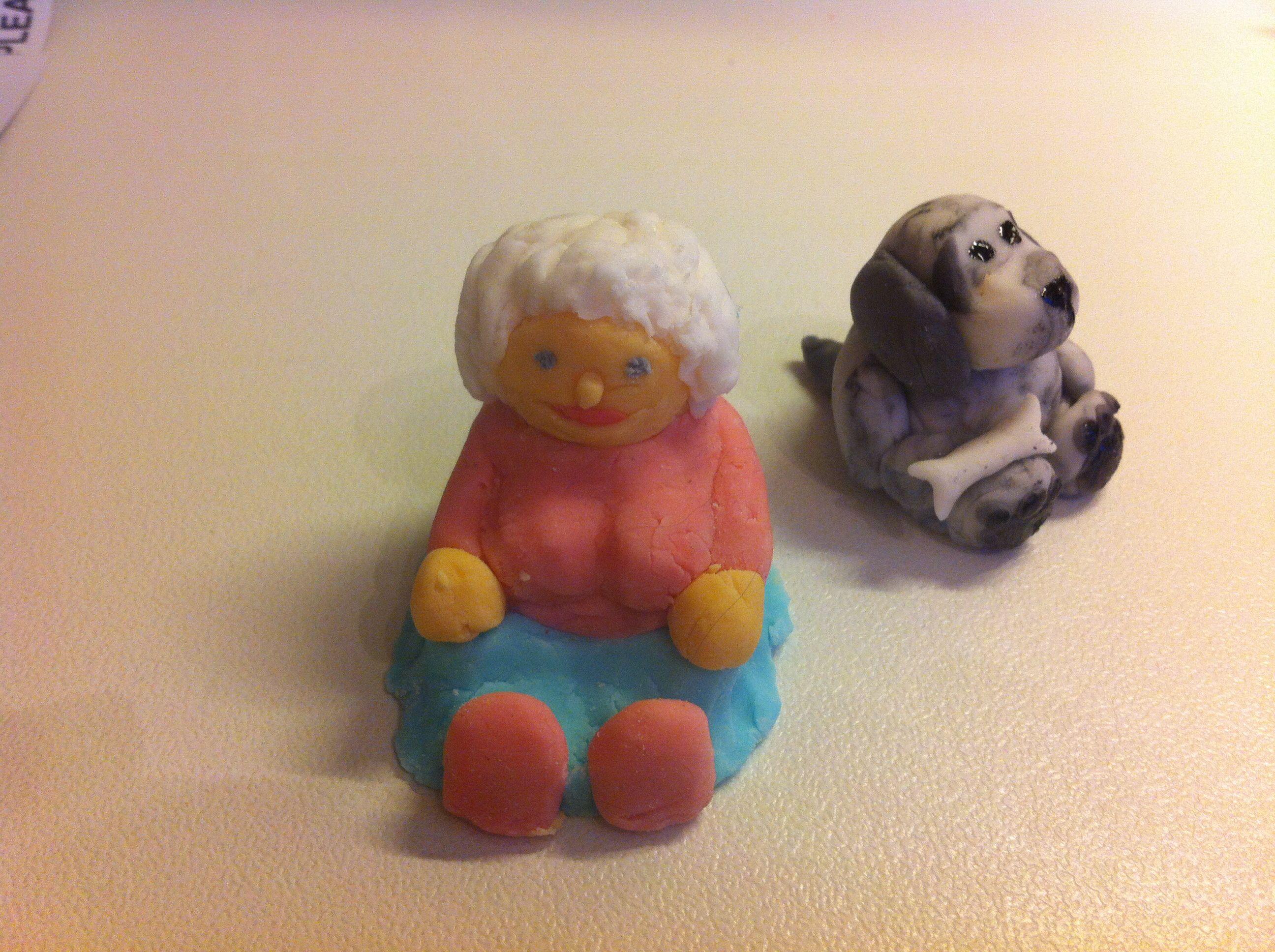 Grandma and her pet cocker