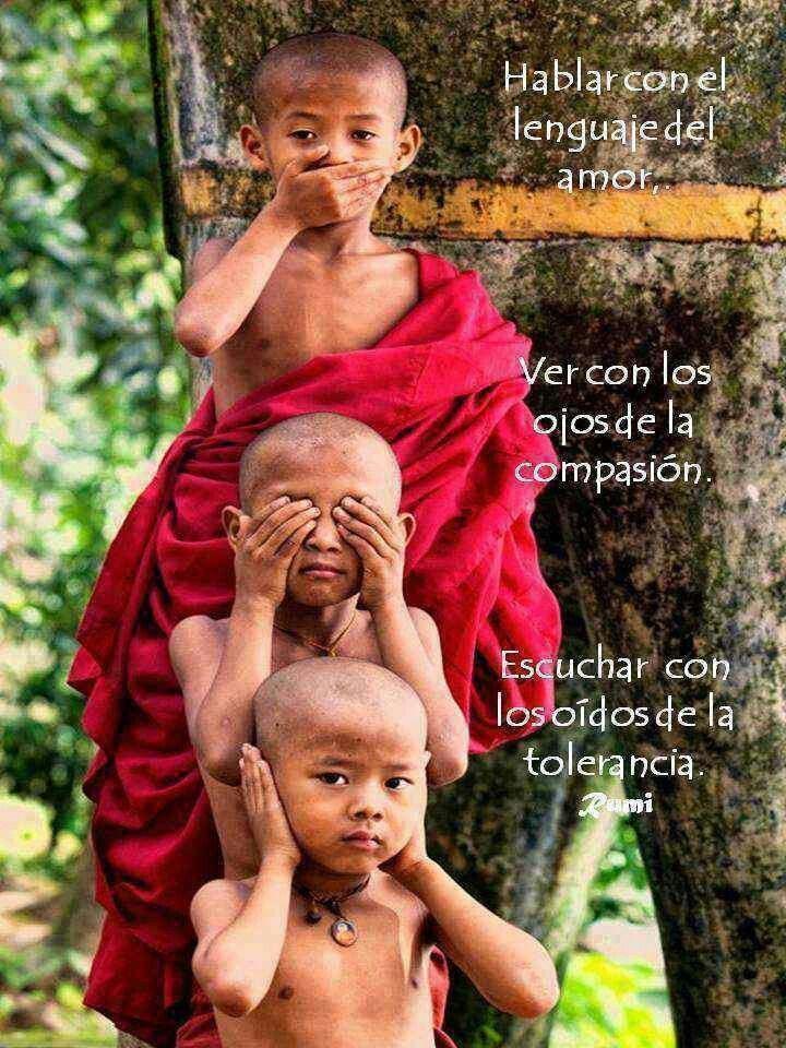 Ver Oir Y Callar Fotos Budismo Fotografia