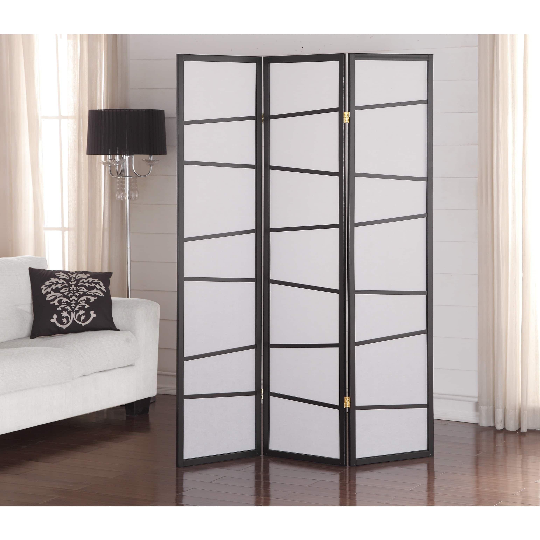 Black 3 Panel Screen Room Divider