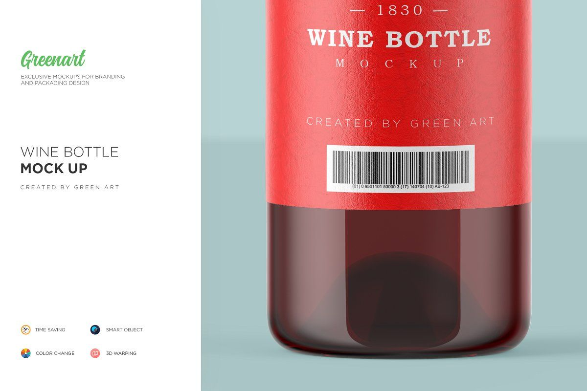 Clear Glass Wine Bottle Mockup With Images Bottle Mockup Wine Bottle Wine Glass