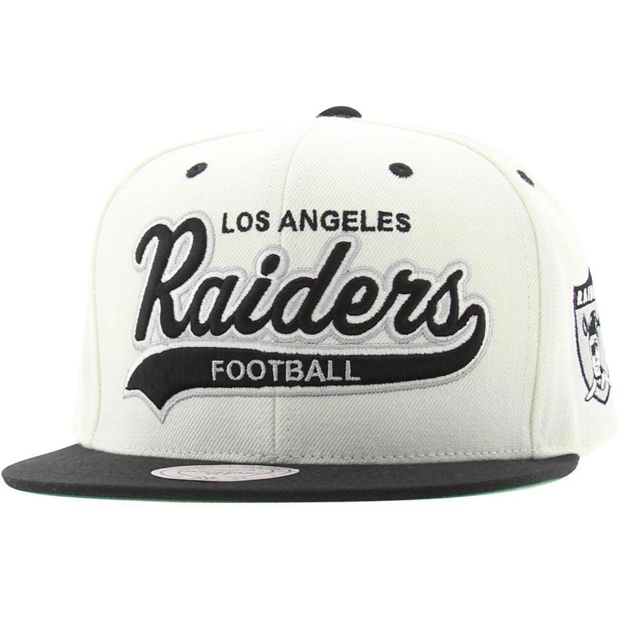 Mitchell And Ness Los Angeles Raiders Sta3 Structured Snapback Cap White Black Nl20z 6raidewbk 26 00 Raiders Football Nfl Oakland Raiders Raiders
