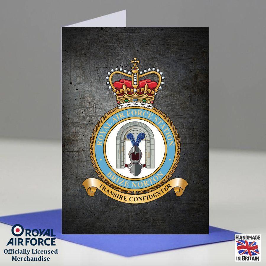 RAF Brize Norton Station Presentation Posting Promotion Retirement Card Gift