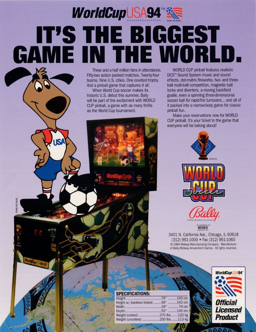 World Cup Soccer (1994 Bally/Midway) Played 16/1/15 at