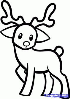 raindeer drawing | How to Draw a Reindeer For Kids, Step by Step ...