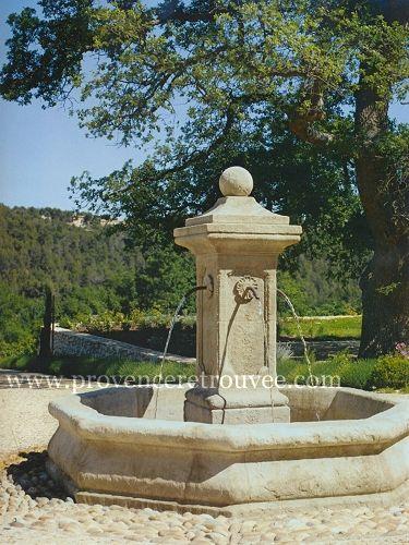 Fontaine proven ale en pierre naturelle fontaine de jardin fontaine pierre fontaine de - Fontaines de jardin murales ...