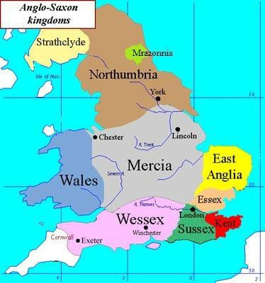 Map Of England During Anglo Saxon Times.Anglo Saxons And Vikings Map Saxon History Anglo Saxon Kingdoms
