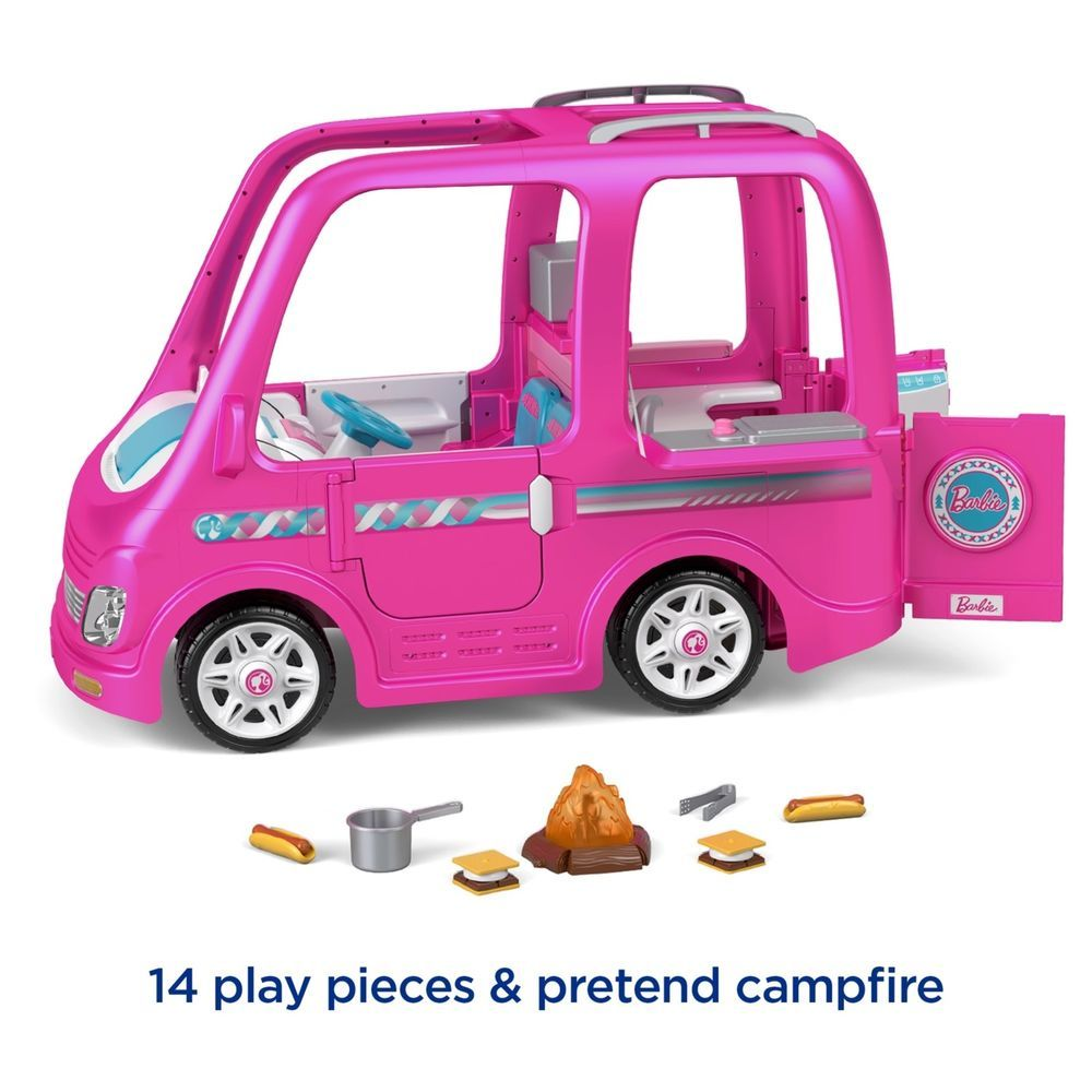 Barbie Dream Camper Ride On Toy Power Wheels Battery Powered