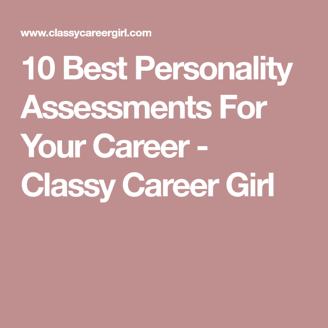 Best Personality Assessments For Your Career  Personality