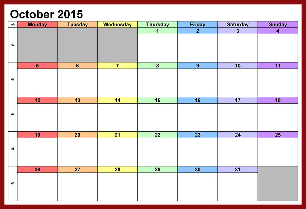 October 2015 Calendar Tumblr - In this Post we\u0027re sharing latest - 2015 calendar template with holidays