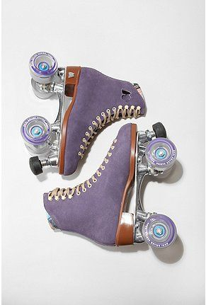 Rollerskating would be so much funner if the skates are purple
