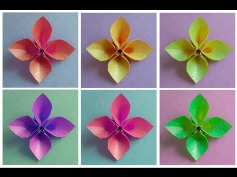 Demonstration on how to fold an origami four petal flower designed demonstration on how to fold an origami four petal flower designed by leyla torres mightylinksfo