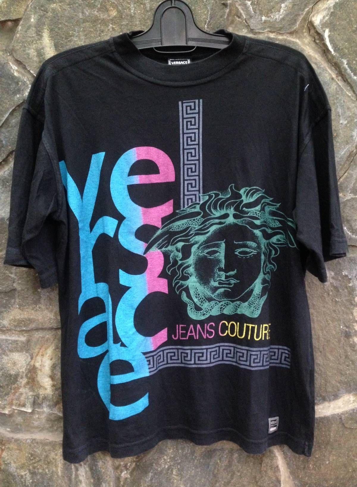 Versace Jeans Couture Vintage Versace Jeans Couture Medusa Logo T Shirt Size S Short Sleeve T Shirts For Versace Jeans Couture Couture Outfits Versace Jeans