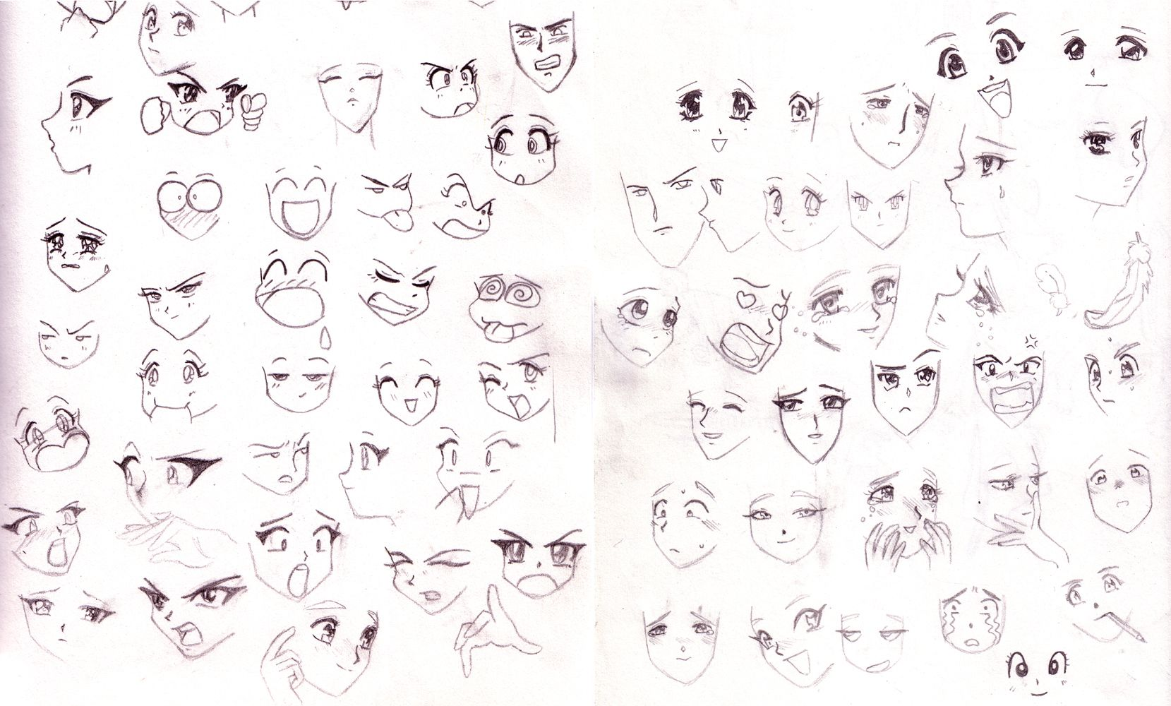 Faces for Phoenix to draw