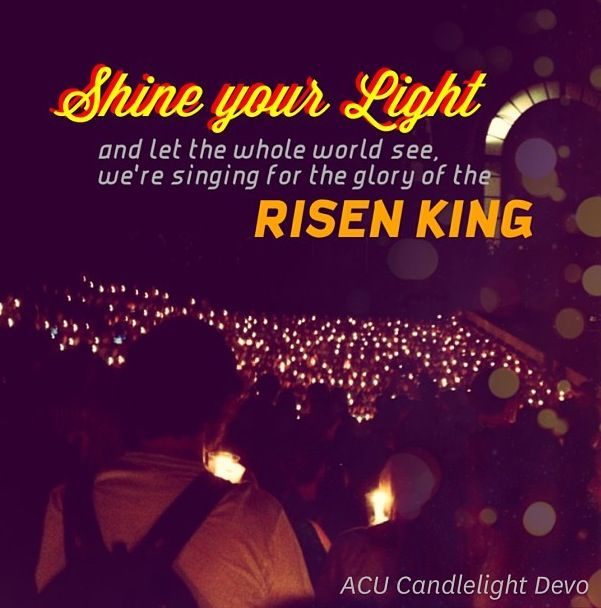 Candlelight Devo at ACU... one of my favorite traditions i've ever been a part of.  #CandlelightDevo #AbileneChristianUniversity