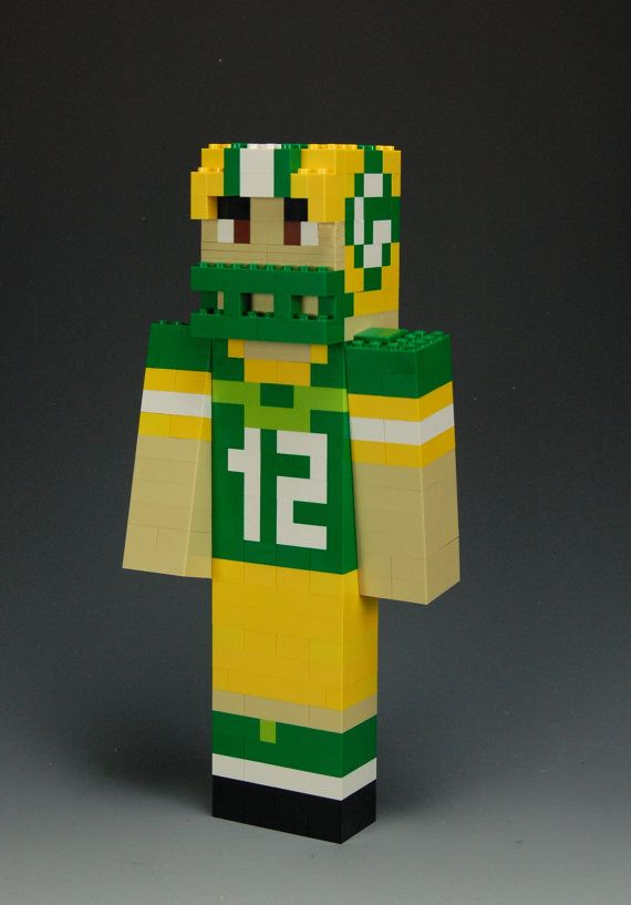 Lego Minecraft Aaron Rodgers Green Bay Packers #12 | Lego ...