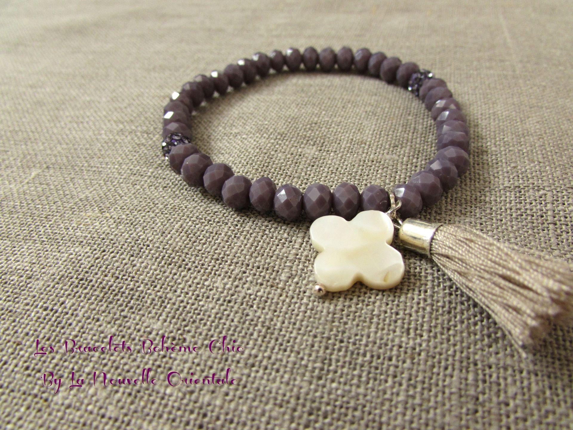 bracelet perle et pompon