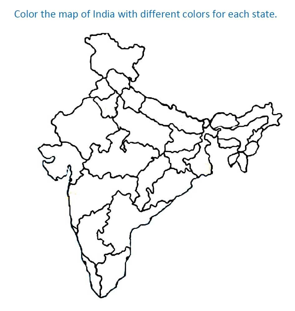 India States India Map Earth Day Coloring Pages Coloring Pages