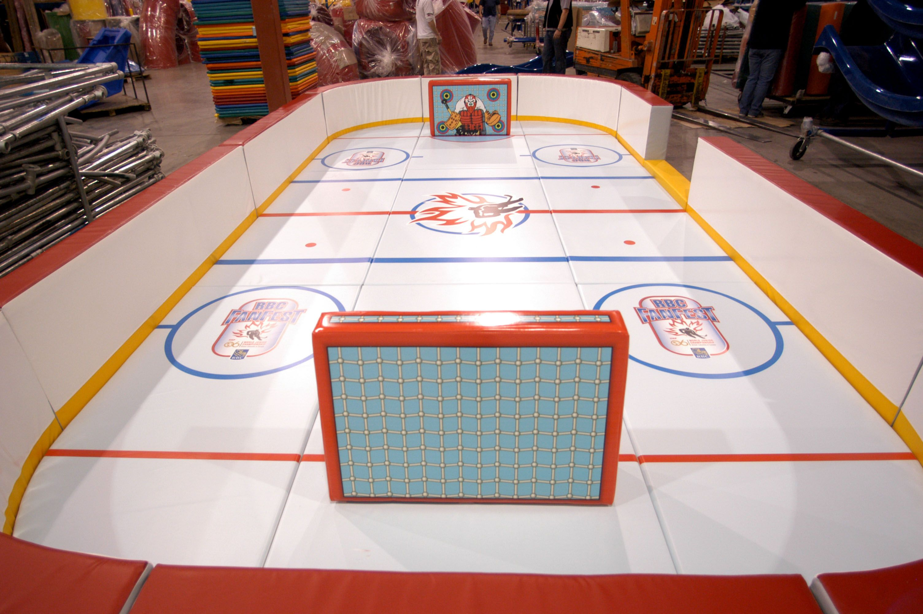 soft toddler hockey rink great for promotions or add to your