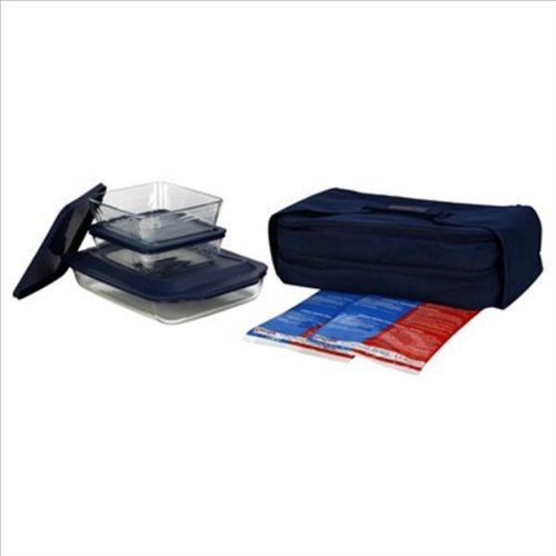 http://yummycakedecorating.com/pyrex-portables-9-piece-double-decker-set/ 3 Quart (9 inch By 13 Inch) Oblong; Two 6 Cup Rectangular Storage Dishes. Two Unipacks, Lids, Carrier. Perfect For Transporting Food To Parties And Picnics. Glass Is Oven, Microwave, Frig/Freezer, Dishwasher Safe. Nonporous Glass Won't Absorb Odors, Flavors Or Stains. Clear Glass Allows You To Watch Your Food As It Cooks.