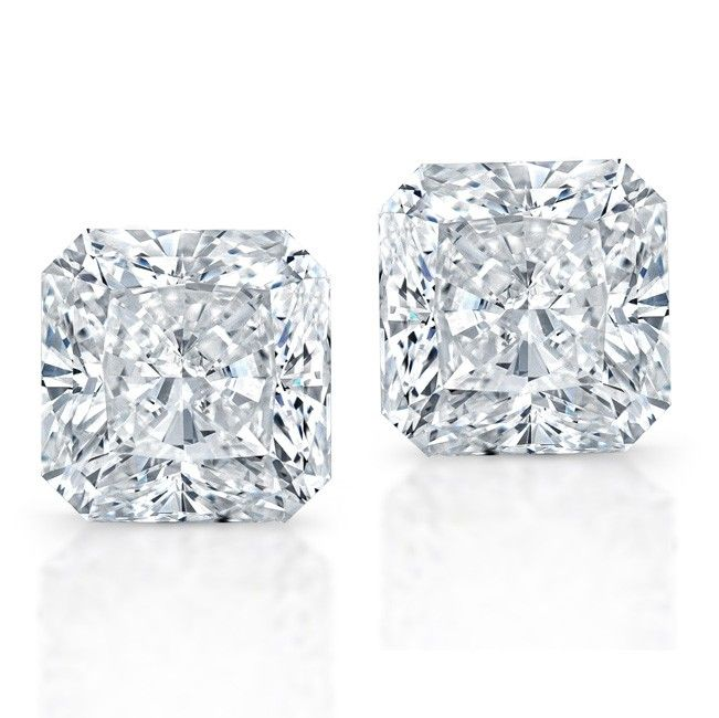 Radiant Cut Diamond Studs Wow