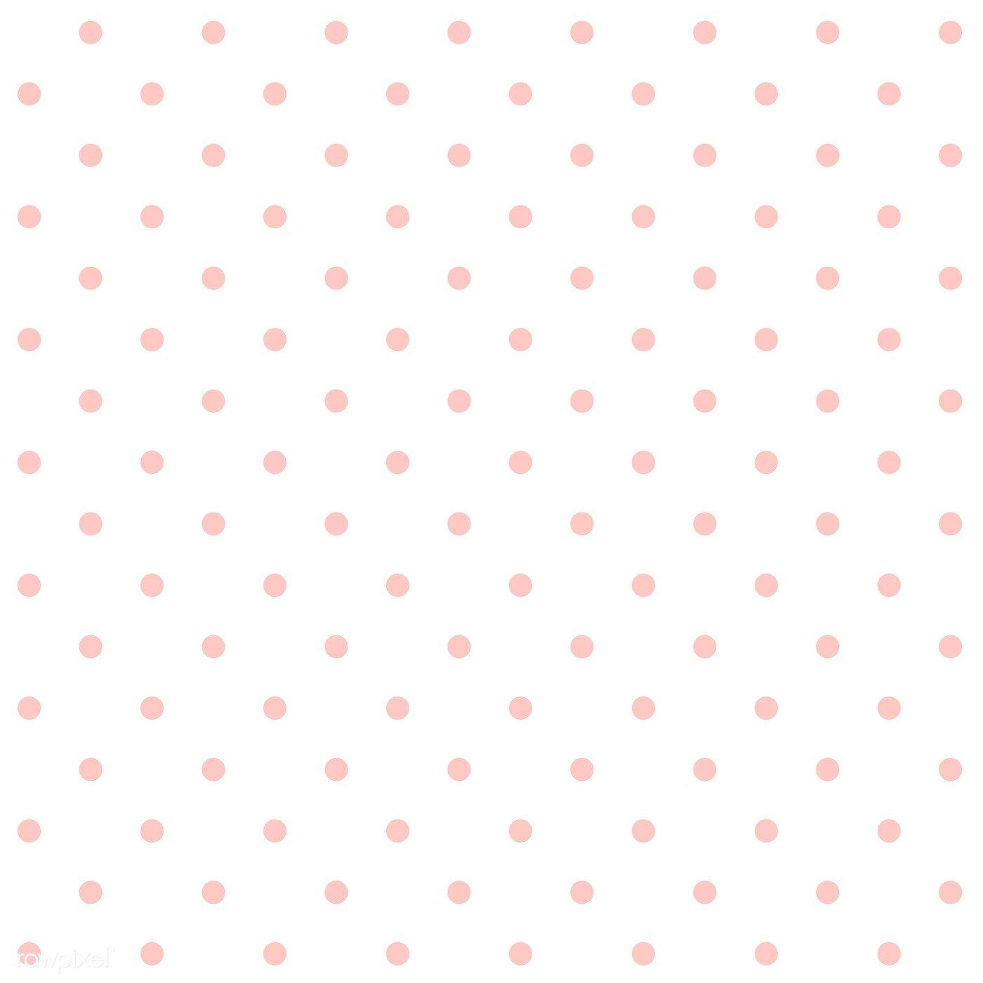 Download Premium Vector Of Pastel Pink And White Seamless Polka Dot Polka Dots Wallpaper Pink Polka Dots Background Pink Polka Dots Wallpaper