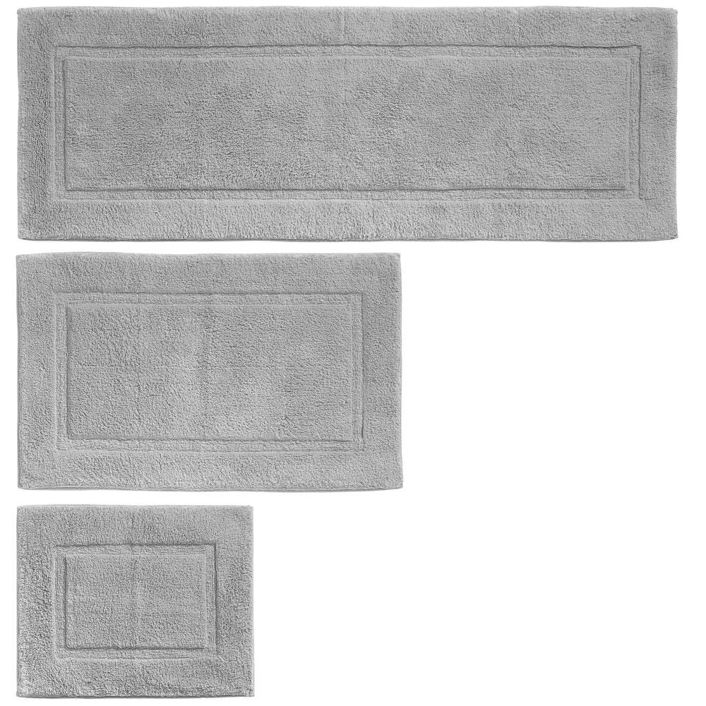 Mdesign Soft Cotton Spa Mat Rug For Bathroom Varied Sizes Set Of